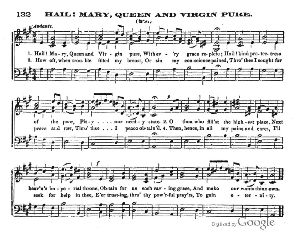 Anonymous - Hail Mary, Queen and Virgin pure